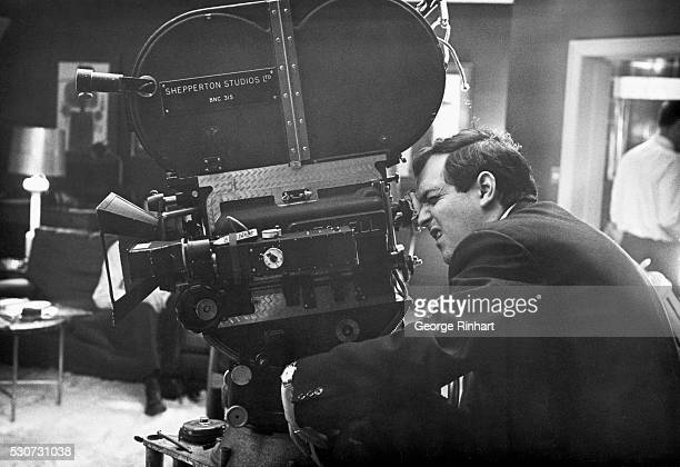 Stanley Kubrick looking through camera during filming of the 1964 movie Dr. Strangelove or: How I Learned to Stop Worrying and Love the Bomb.