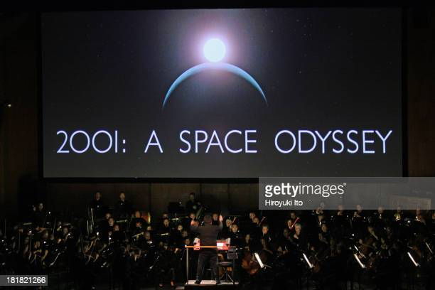 Stanley Kubrick's '2001 A Space Odyssey' with live music from the soundtrack performed by the New York Philharmonic at Avery Fisher Hall on Friday...