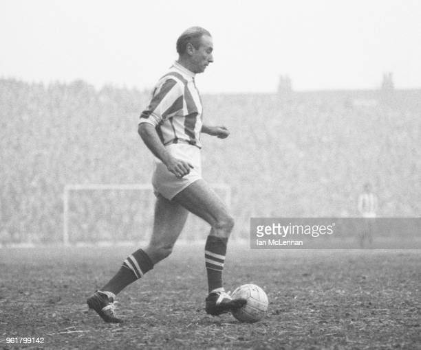 Stanley Matthews playing in his last league match, for Stoke City against Fulham FC at the Victoria Ground Stoke in front of a capacity crowd on 6th...
