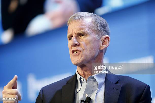 Stanley McChrystal chairman of Siemens Government Technologies Inc speaks during the annual Milken Institute Global Conference in Beverly Hills...