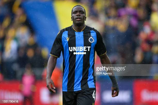 Stanley Nsoki of Club Brugge during the Jupiler Pro League match between Union Saint Gilloise and Club Brugge at Joseph Marien Stadion on August 1,...