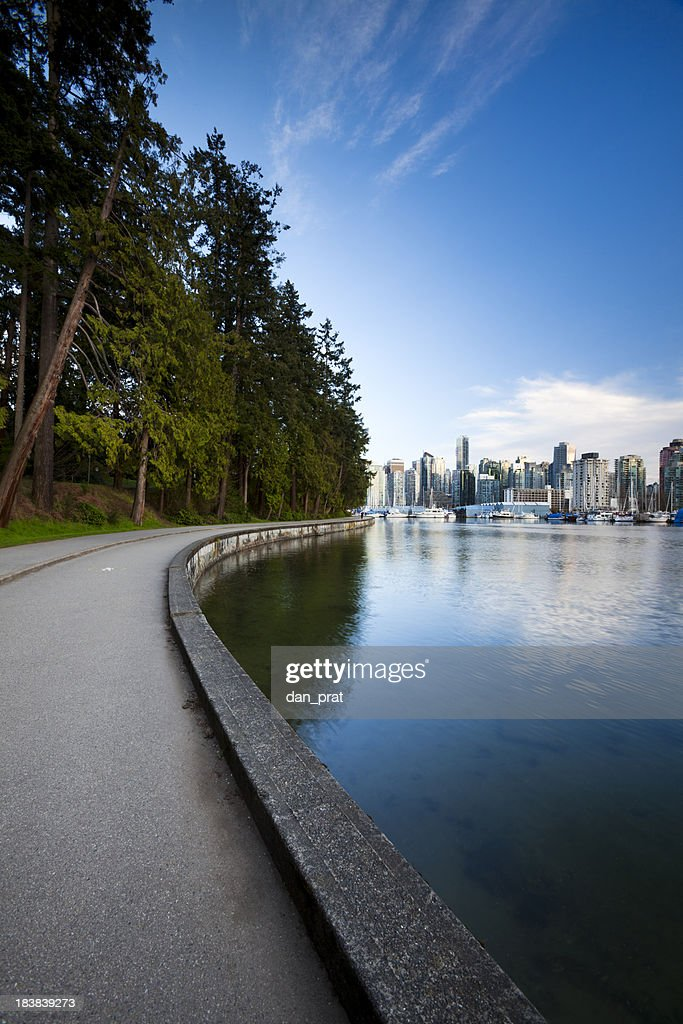 Stanley Park Seawall  Vancouver, BC : Stock Photo