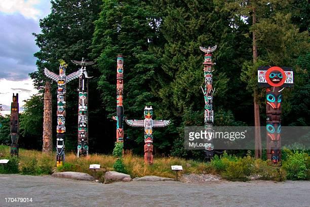 Stanley Park Totem Poles Vancouver British Columbia