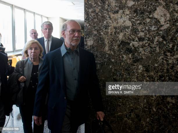 Stanley Patz exits the courtroom following the sentencing of Pedro Hernandez convicted for the 1979 kidnapping and murdering of his sixyearold son...