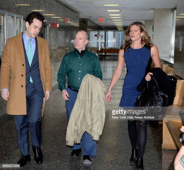 Stanley Patz the father of Etan Patz and Jennifer O'Connor a juror in the first trial arrive in Manhattan Supreme Court on Tuesday February 14 2017...