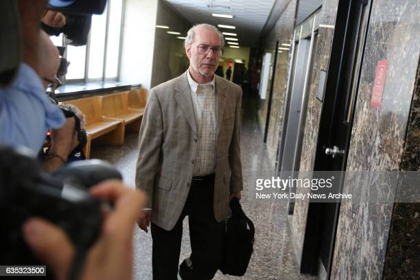 Stanley Patz the father of Etan Patz leaves court after the morning session on the first day of the retrial of Pedro Hernandez on Wednesday October...