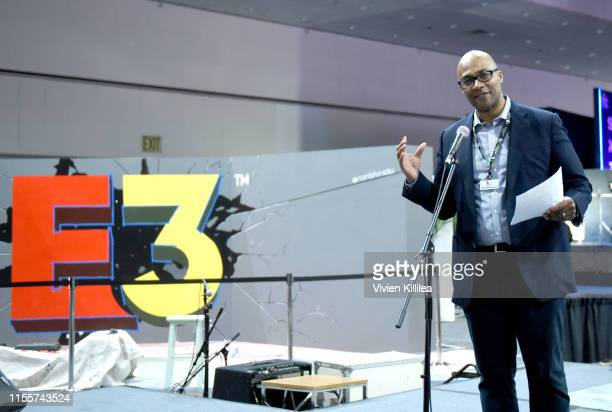 Stanley PierreLouis speaks onstage during E3 2019 at the Los Angeles Convention center on June 13 2019 in Los Angeles California