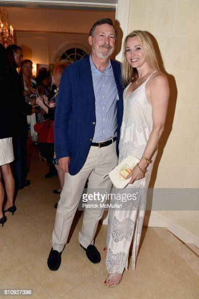 Stanley Rumbough and Leah Rumbough attend Katrina and Don Peebles Host NY Mission Society Summer Cocktails at Private Residence on July 7 2017 in...
