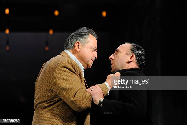 """Stanley Townsend as Dr Harry Hyman and Antony Sher as Phillip Gellburg in Arthur Miller's """"Broken Glass"""" directed by Iqbal Khan at the Vaudeville..."""