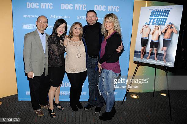 """Stanley Truong, Patty Huang, Maria McQuay, Mike McQuay and Rosa Justino attend the New York premiere of """"Swim Team"""" at DOC NYC on November 17, 2016..."""