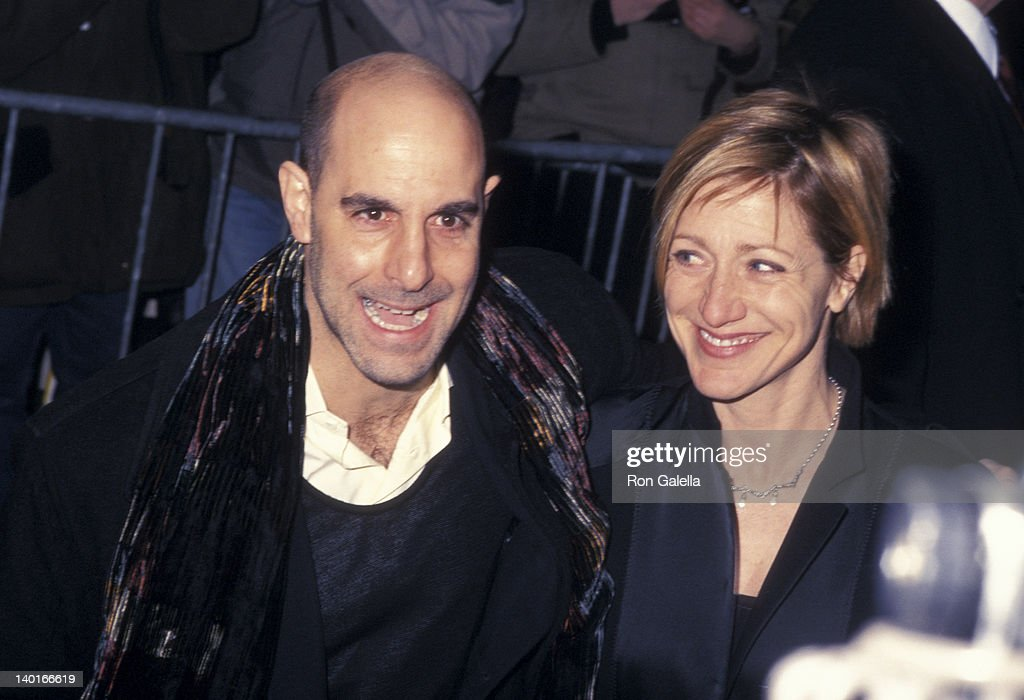 Stanley Tucci and Edie Falco at the After Party for New York Premiere of 'Hours', Metropolitan Club, New York City.