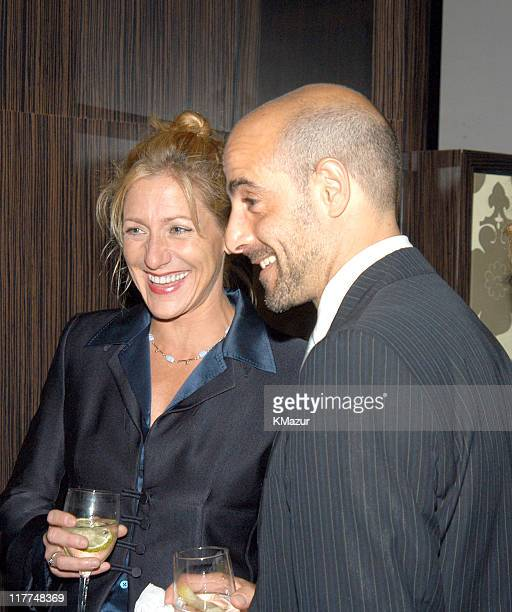 Stanley Tucci and Edie Falco during Central Park Conservancy hosts 150th Anniversary of the Park at Mandarin Oriental Hotel in New York City New York...