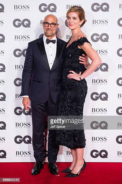 Stanley Tucci and Felicity Blunt arrive for GQ Men Of The Year Awards 2016 at Tate Modern on September 6 2016 in London England
