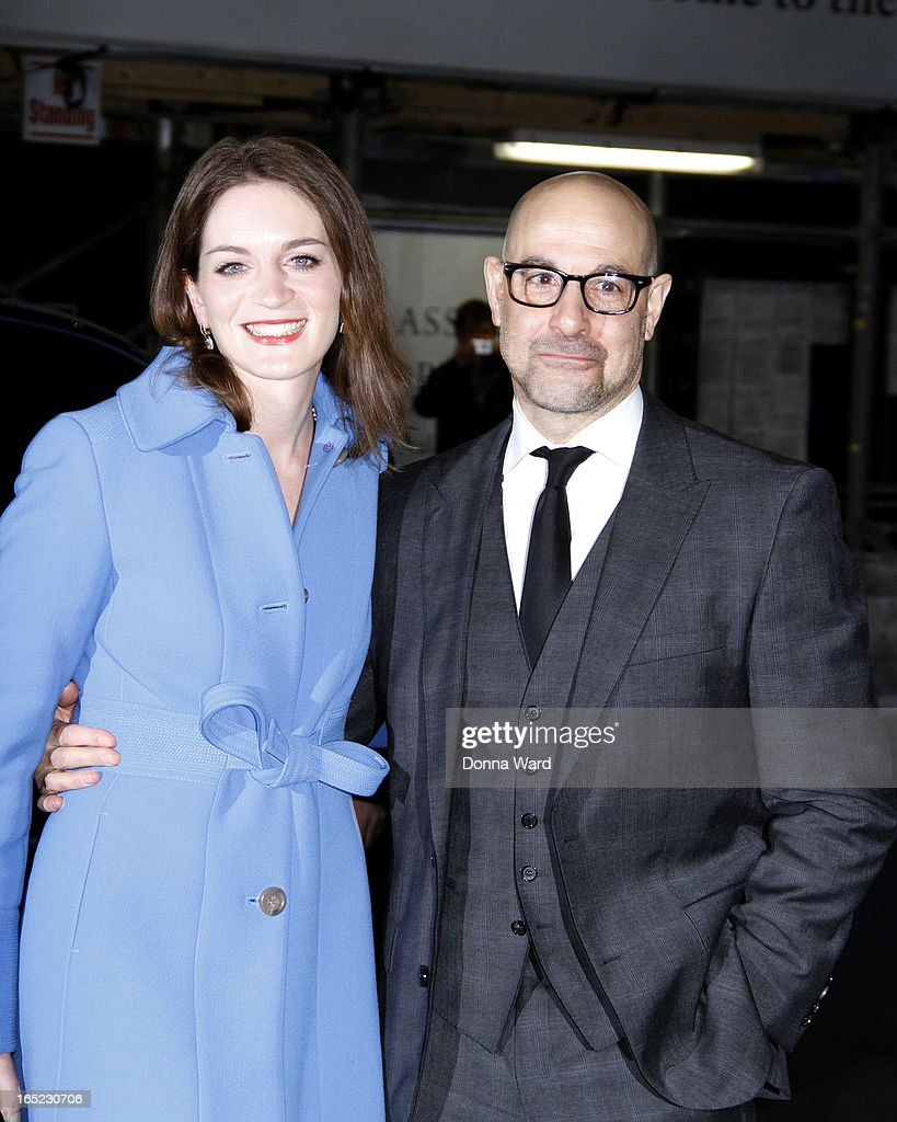 Stanley Tucci and Felicity Blunt attend 'The Company You Keep' New York Premiere at The Museum of Modern Art on April 1, 2013 in New York City.