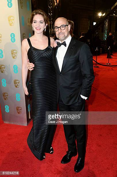 Stanley Tucci and Felicity Blunt attend the EE British Academy Film Awards at The Royal Opera House on February 14 2016 in London England