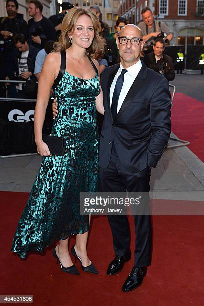 Stanley Tucci and Felicity Blunt attend the GQ Men of the Year awards at The Royal Opera House on September 2 2014 in London England