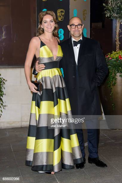 Stanley Tucci and Felicity Blunt attend the official after party for the 70th EE British Academy Film Awards at The Grosvenor House Hotel on February...