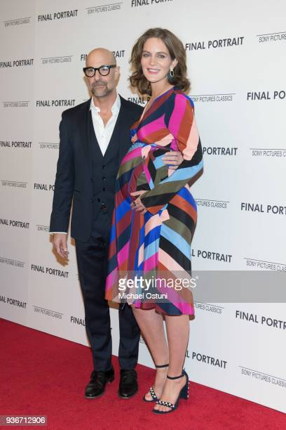 Stanley Tucci and Felicity Blunt attend the screening of Final Portrait at Guggenheim Museum on March 22 2018 in New York City