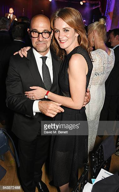 Stanley Tucci and Felicity Blunt attend the Summer Gala for The Old Vic at The Brewery on June 27 2016 in London England