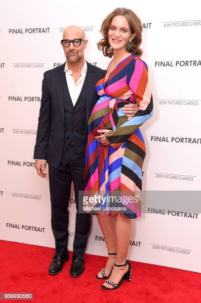 Stanley Tucci and Felicty Blunt attend the Final Portrait New York Screening at Guggenheim Museum on March 22 2018 in New York City