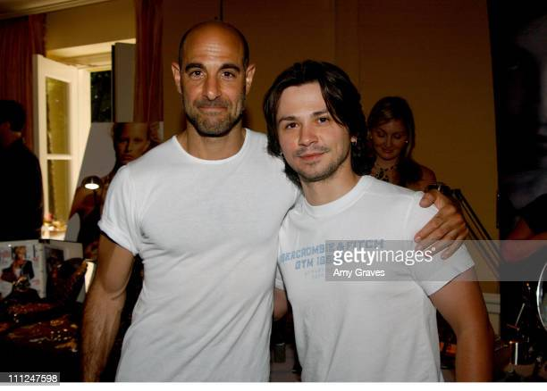 "Stanley Tucci and Freddy Rodriguez during HBO ""Luxury Lounge"" at the 55th Annual Emmy Awards at The Peninsula Hotel - Magnolia Room in Beverly Hills,..."