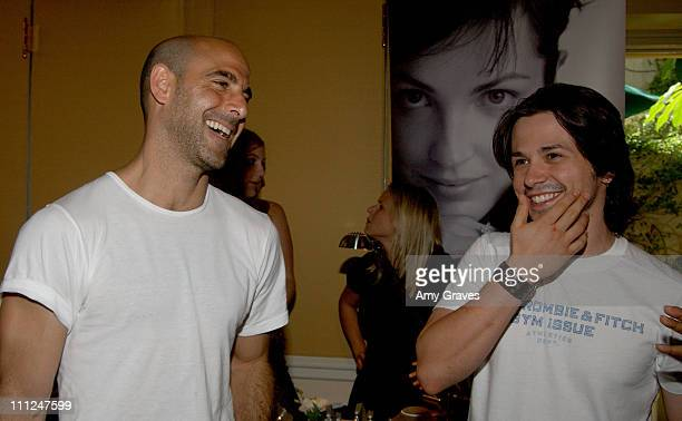 Stanley Tucci and Freddy Rodriguez during HBO Luxury Lounge at the 55th Annual Emmy Awards at The Peninsula Hotel Magnolia Room in Beverly Hills...