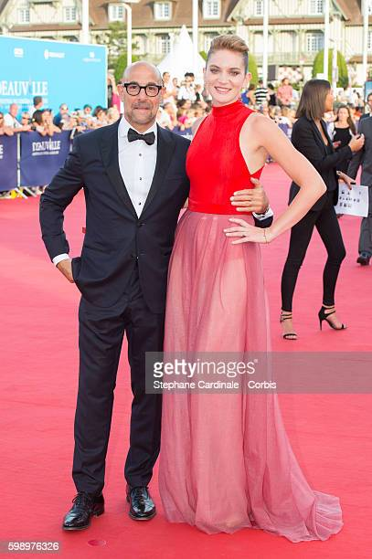 Stanley Tucci and his wife Felicity Blunt attend the Free State Of Jones Premiere during the 42nd Deauville American Film Festival on September 3...