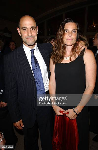 Stanley Tucci and his wife Kate at the party following the premiere of the Dreamworks SKG film Road to Perdition in the Vanderbilt Hall at Grand...