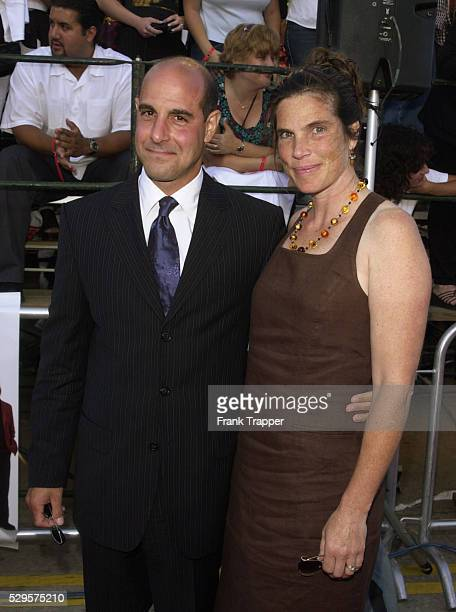 Stanley Tucci and his wife Kate at the premiere of America's Sweethearts