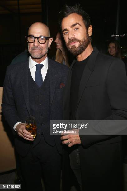 Stanley Tucci and Justin Theroux attend 'A Quiet Place' New York Premiere After Party on April 2 2018 in New York City