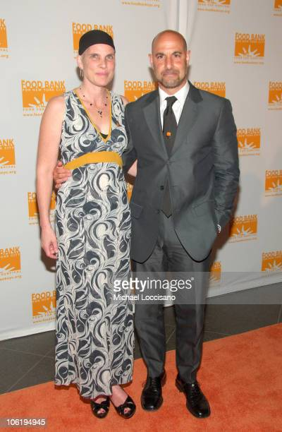 Stanley Tucci and Kate Spath during 2007 Food Bank of New York Annual Can Do Awards Arrivals at Pier 60 Chelsea Piers in New York City New York...