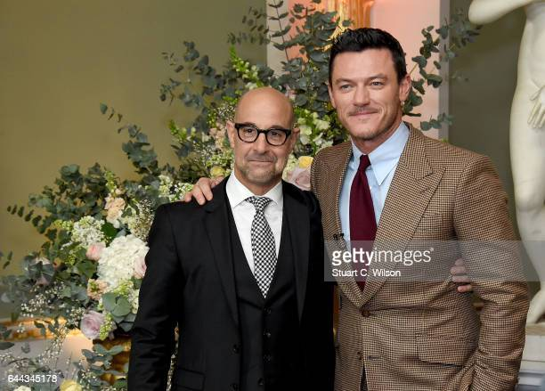 Stanley Tucci and Luke Evans attend UK launch event for Disney's 'Beauty And The Beast' at Spencer House on February 23 2017 in London England