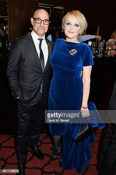 Stanley Tucci and Miranda Richardson attend The London Critics' Circle Film Awards at The Mayfair Hotel on January 18 2015 in London England