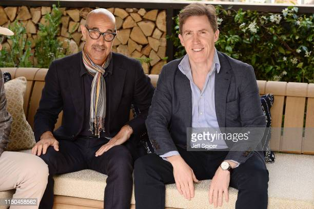 Stanley Tucci and Rob Brydon attend the RHS Chelsea Flower Show 2019 press day at Chelsea Flower Show on May 20 2019 in London England
