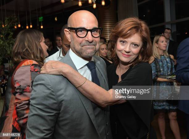 Stanley Tucci and Susan Sarandon attend FX Networks celebration of their Emmy nominees in partnership with Vanity Fair at Craft on September 16 2017...