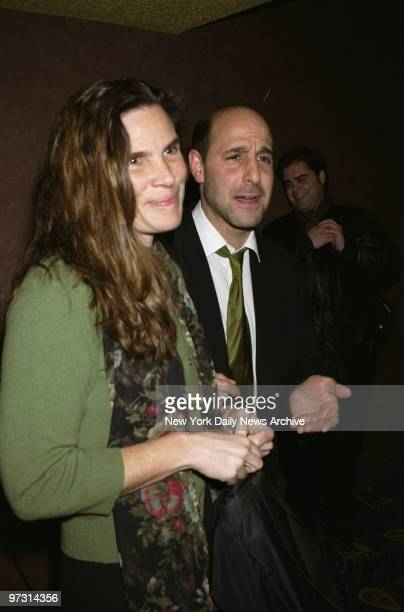 Stanley Tucci and wife Kate arrive for the premiere of the movie Before Night Falls at Clearview Chelsea West Cinemas