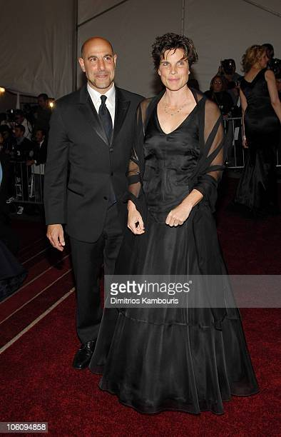 Stanley Tucci and wife Kate Tucci during AngloMania Costume Institute Gala at The Metropolitan Museum of Art Arrivals Celebrating AngloMania...