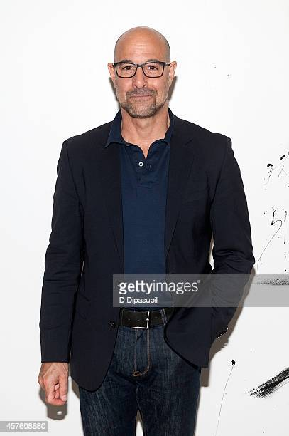 Stanley Tucci attends AOL's BUILD Series Presents Stanley Tucci Discusses His Cookbook The Tucci Table at AOL Studios In New York on October 21 2014...