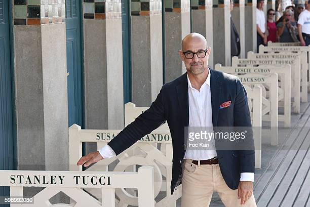 Stanley Tucci attends his cabin unveiling on the Promenade des Planches during the 42nd Deauville American Film Festival on September 3, 2016 in...