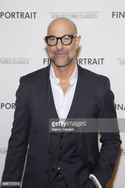 """Stanley Tucci attends the """"Final Portrait"""" New York Screening at Guggenheim Museum on March 22, 2018 in New York City."""