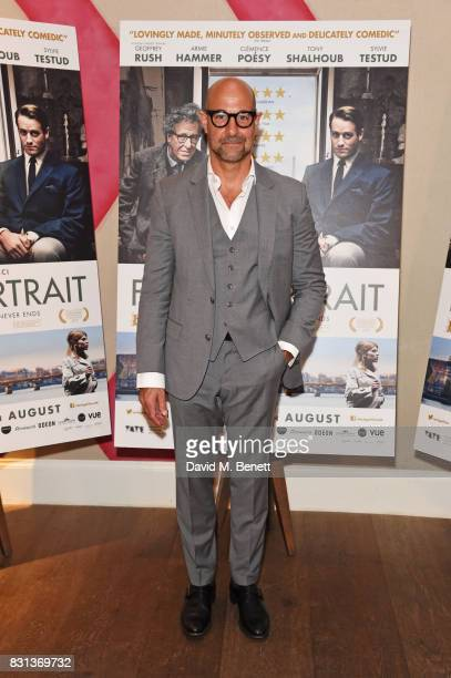 """Stanley Tucci attends the Gala Screening of """"Final Portrait"""" at The Ham Yard Hotel on August 14, 2017 in London, England."""