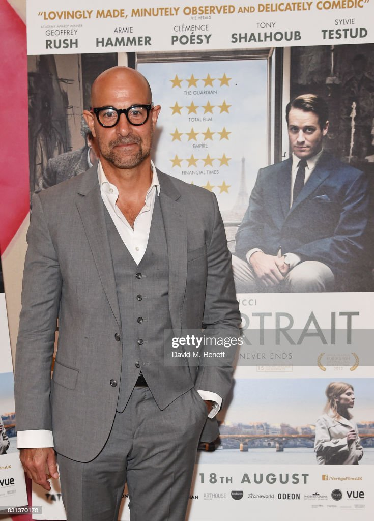 Stanley Tucci attends the Gala Screening of 'Final Portrait' at The Ham Yard Hotel on August 14, 2017 in London, England.
