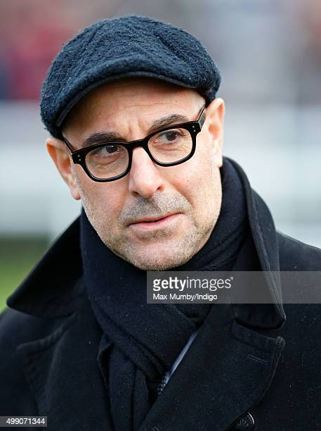 Stanley Tucci attends the Hennessy Gold Cup horse racing meet at Newbury Racecourse on November 28 2015 in Newbury England