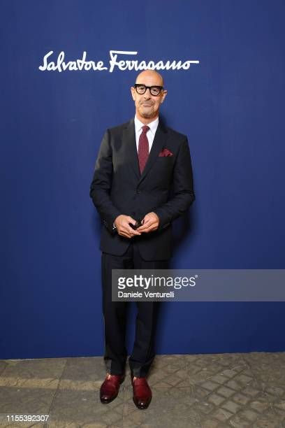 Stanley Tucci attends the Salvatore Ferragamo show during Pitti Immagine Uomo 96 on June 11, 2019 in Florence, Italy.