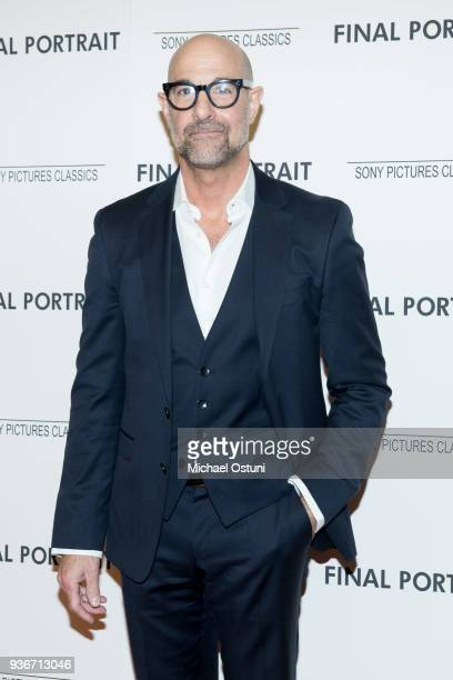 Stanley Tucci attends the screening of Final Portrait at Guggenheim Museum on March 22, 2018 in New York City.