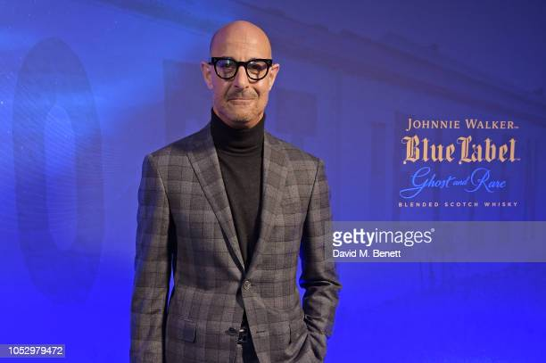 Stanley Tucci attends the unveiling of Johnnie Walker Blue Label Ghost and Rare Port Ellen at The Welsh Chapel on October 24 2018 in London England