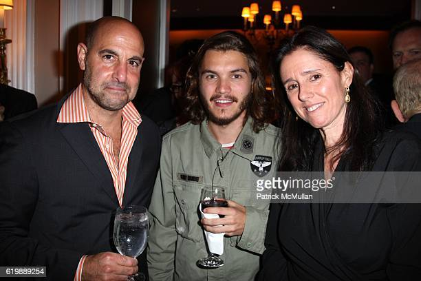 Stanley Tucci Emile Hirsch and Julie Taymor attend New York Premiere of Magnolia Pictures SOMETHING JUST HAPPENED at Moma/21 Club on October 1 2008...