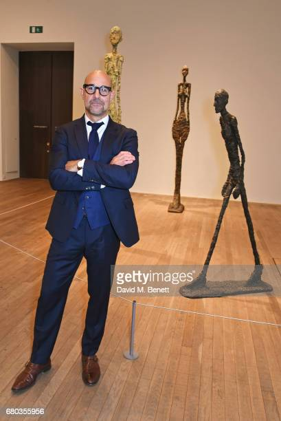 Stanley Tucci hosts a private view of the Giacometti exhibition ahead of the August 4th release of 'Final Portrait a film he has written and directed...