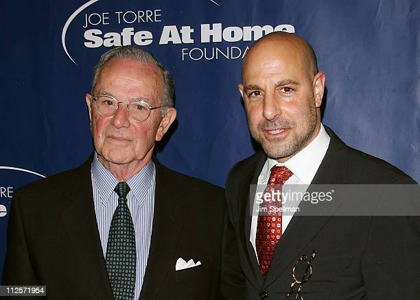 Stanley Tucci Jr and Stanley Tucci Sr attends the 5th Annual Joe Torre Safe at Home Foundation Gala at Pier Sixty on November 9 2007 in New York City