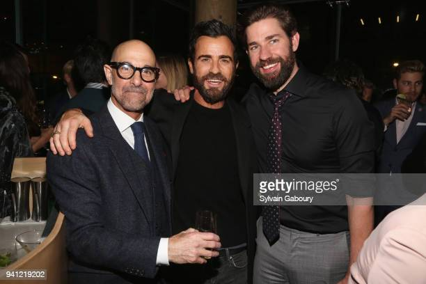 Stanley Tucci Justin Theroux and John Krasinski attend 'A Quiet Place' New York Premiere After Party on April 2 2018 in New York City